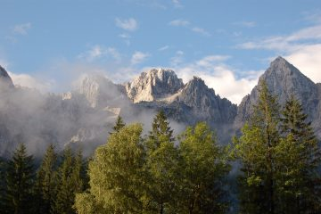 Au loin les sommets des alpes Julienne.