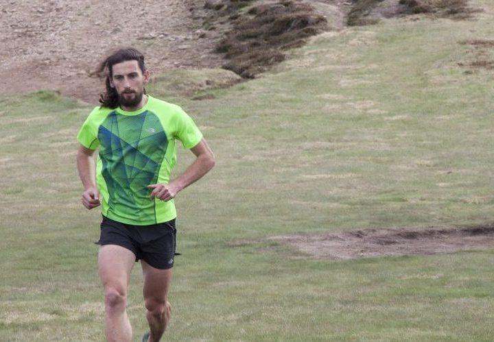 Stéphane Brogniart pendant un trail