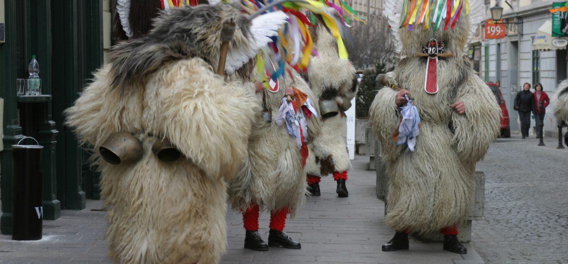 Kurent pendant le carnaval de Ptuj